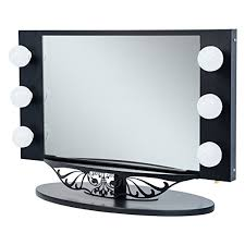 Various Television Vanity Cards Amazon Com Starlet Lighted Vanity Mirror Gloss Black Home