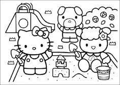 dibujos colorear kitty 9 pasos uncomo sobre