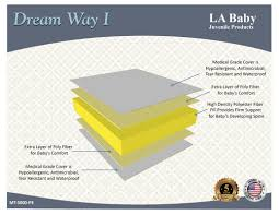 Memory Foam Mini Crib Mattress by L A Baby Dream Way Crib Mattress U0026 Reviews Wayfair