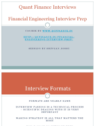 quant interview prep quantitative analyst mathematical finance