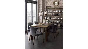 curran grey dining chair crate and barrel