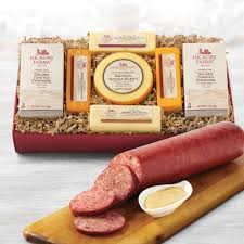 summer sausage gift basket farms party summer sausage cheese set