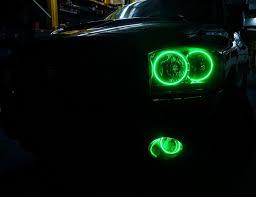 nissan 370z halo headlights 2006 dodge ram multi color oracle halo headlights u0026 fog lights