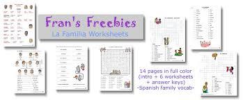 bunch ideas of family spanish worksheets on description shishita