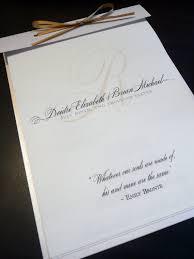 wedding program stationary pearl shimmer wedding program layered booklet sle on etsy