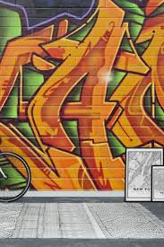 the 26 best images about graffiti wall murals on pinterest graffiti orange wall mural wallpaper