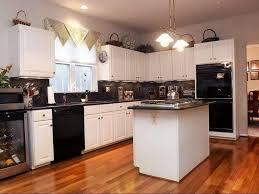 black kitchen cabinets with white appliances best black kitchen