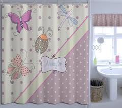Purple Butterfly Curtains Girls Shower Curtain Home Design
