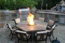 hexagon patio table and chairs hexagonal table and black iron chairs using irregular flagstone