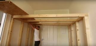 how to build a bedroom build an overhead loft for a small room how to build a lofted space
