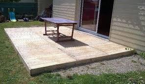 Wood Patio Flooring by Reclaimed Pallet Deck Flooring