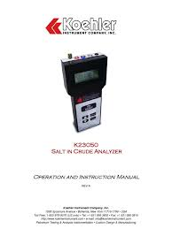salinómetro koehler k23050 ph calibration