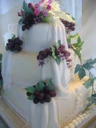 wedding cake with grapes traditional fruit cake covered in
