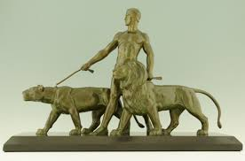 lioness sculpture deco sculpture of a with lion and lioness sold items