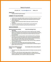 examples of resumes for medical assistants medical assistant