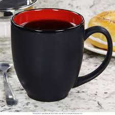 hilo bistro coffee mug black and red cafe coffee mugs