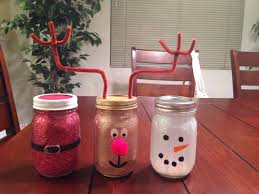 holiday crafts made out of mason jars i made them all by myself