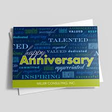 words for anniversary cards appreciation words anniversary card anniversary by brookhollow