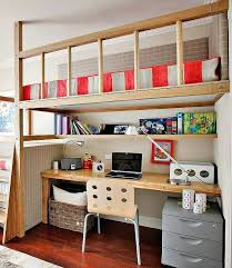 Space Loft Bed With Desk Raised Bed With Desk Underneath U2013 Plfixtures Info