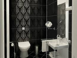 Modern Wallpaper For Bathrooms Contemporary Black And White Bathroom Color 4 Home Ideas