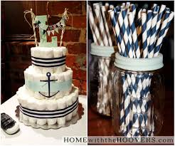 nautical baby shower home with the hoovers