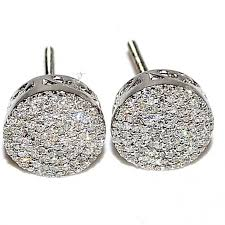diamond back earrings real diamond earrings mens earrings stud earrings large 2ct