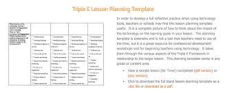 triple e lesson planning template triple e framework