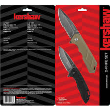 kershaw kitchen knives set kershaw 2 knife set walmart com