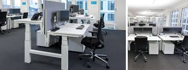 New Office Desk Maersk Endorses Electric Height Adjustable Desks In Its New Offices