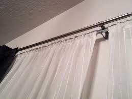 Amazing Double Curtain Rod Design by Double Curtain Rod Ikea Home Design Ideas