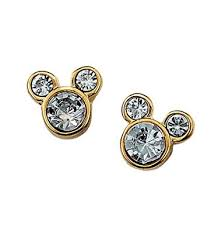 mickey mouse earrings disney mickey mouse stud earrings with rhinestones