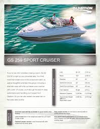 gs 259 glastron pdf catalogues documentation boating brochures