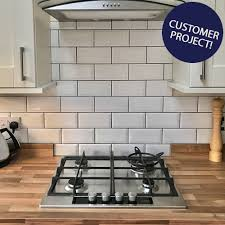 Grey Wall Tiles Kitchen - flooring metro tiles in kitchen bevelled brick white gloss wall