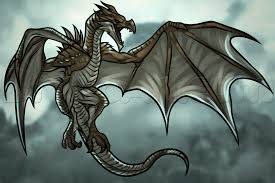 how to draw a dragon from skyrim step by step video game