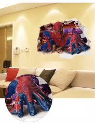 60 90cm 3d boys dream spiderman wall art little knotheads 60 90cm 3d boys dream spiderman wall art