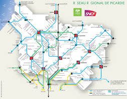 St Malo France Map by Picardy Rail Map