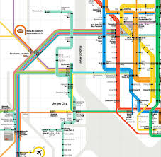 Lirr Map Updated Vignelli Subway Map Colorfully Connects Nyc U0026 Nj Curbed Ny