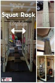 diy wooden squat rack squat gym and workout