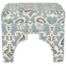 blue and white ottoman safavieh grant blue grey and off white accent ottoman mcr4636j