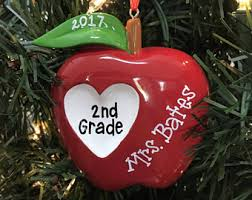 apple ornament etsy