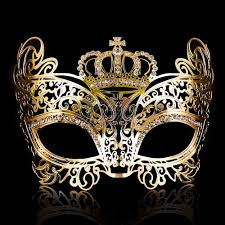 costume masks princess costume mask crown masquerade mask gold m7175