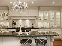 Quartz Countertops Upper Kitchen Cabinets With Glass Doors