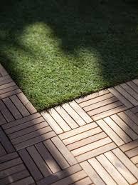 Teak Floor Tiles Outdoors by Bare Decor Ezfloor End Trim Piece Flooring In Solid Teak Wood Set