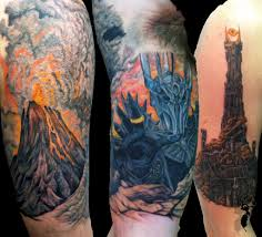 mordor ink middle earth sleeves mordor the land of shadow