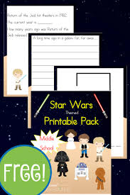 free star wars unit study and printables middle year