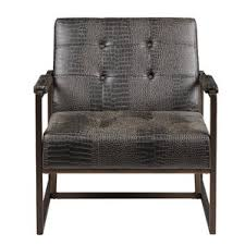 Designer Leather Armchair Modern Metal Accent Chairs Allmodern