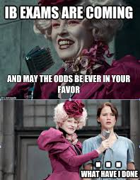 Hunger Game Memes - and may the odds be ever in your favor ib exams are coming