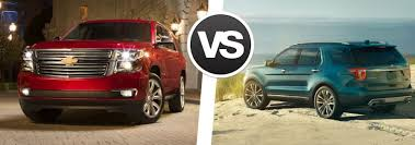 ford explorer vs chevy tahoe 2016 chevy tahoe vs 2016 ford explorer