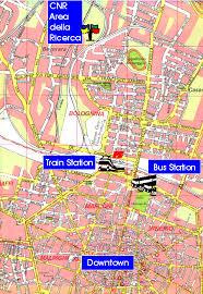 map of bologna how to reach bologna cnr