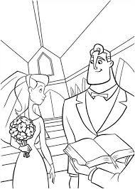 incredibles marrying elastigirl incredibles coloring
